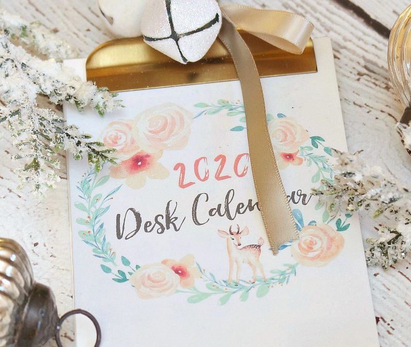 2020 Free Printable Calendar – Clean and Scentsible