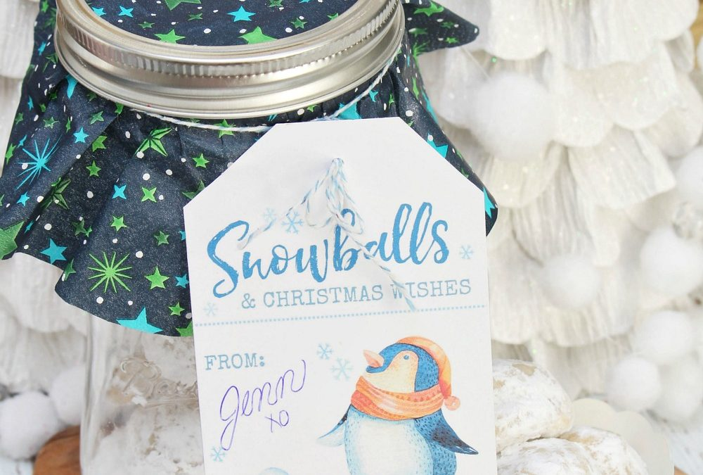 Snowball Cookies in a Jar