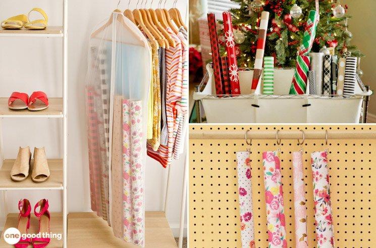 10 Brilliant Ways To Organize Your Gift Wrap Supplies