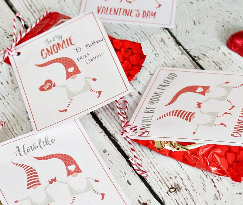 Valentine's Day Gnomes Printables and Tags
